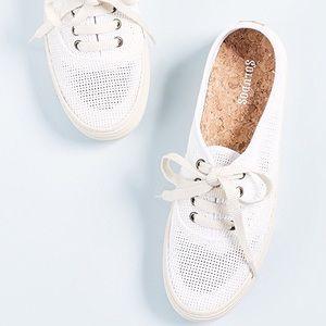 Soludos Platform White Mesh Sneakers Cork Lining